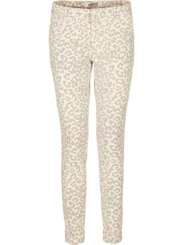 Nickjean Spodnie w kolorze kremowym