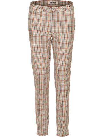 Nickjean Spodnie w kolorze beżowo-pomarańczowym