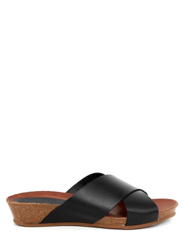 CLKA Leren slippers zwart