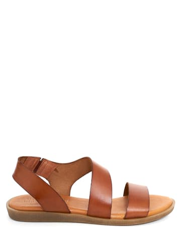 CLKA Leren sandalen lichtbruin