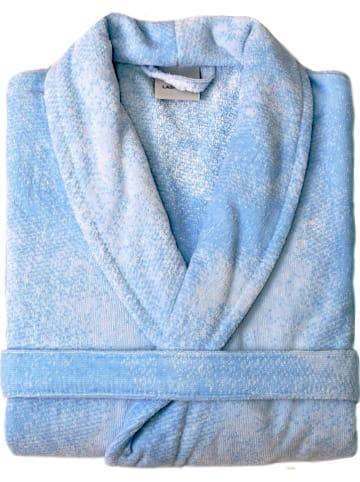 """Lasa Home Szlafrok """"Loira"""" w kolorze niebieskim"""
