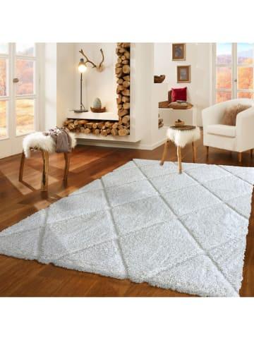Mioli Hochflor-Teppich in Weiß