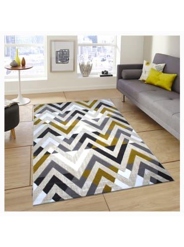 Mioli Laagpolig tapijt grijs/geel