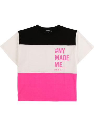 DKNY Shirt zwart/wit/roze