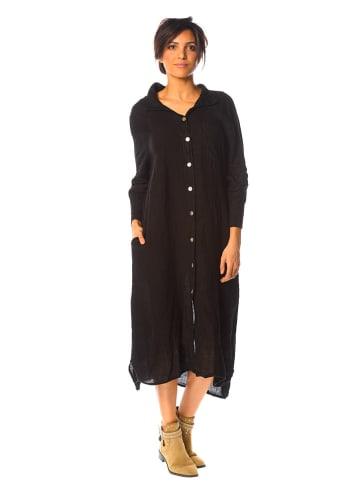 La Compagnie Du Lin Lniana sukienka w kolorze czarnym