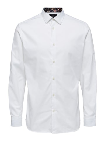 """SELECTED HOMME Blouse """"Noc"""" wit"""