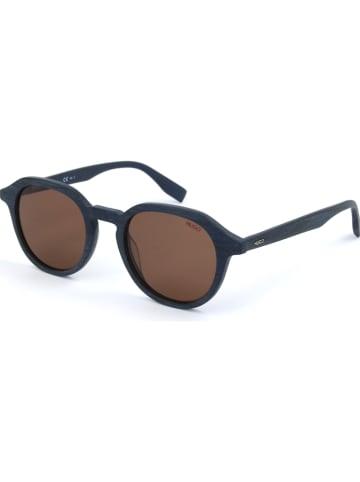 Hugo Boss Damen-Sonnenbrille in Dunkelblau/ Braun