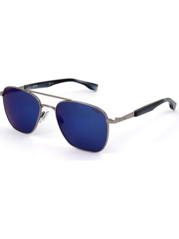 Hugo Boss Herenzonnebril zilverkleurig/blauw