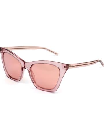 Hugo Boss Damskie okulary przeciwsłoneczne w kolorze jasnoróżowym