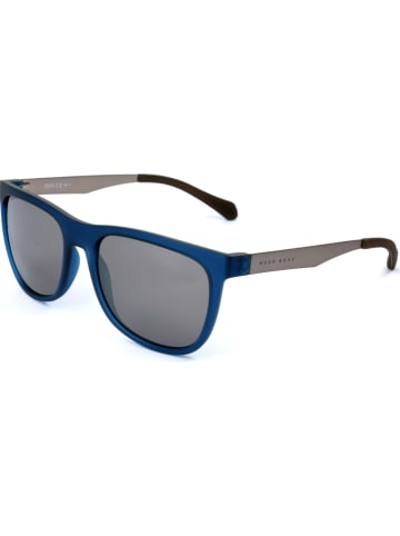 Hugo Boss Herenzonnebril blauw-zilverkleurig/grijs