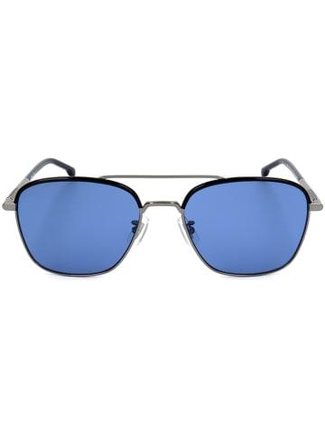 Hugo Boss Herenzonnebril zwart-zilverkleurig/blauw