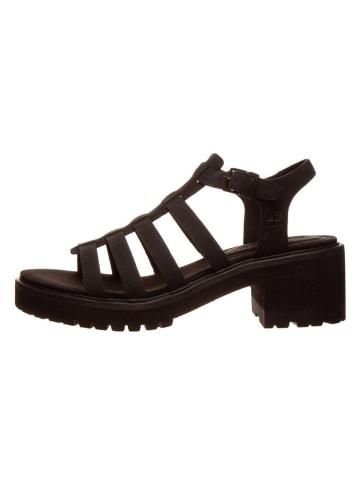 """Timberland Skórzane sandały """"Violet Marsh"""" w kolorze czarnym"""