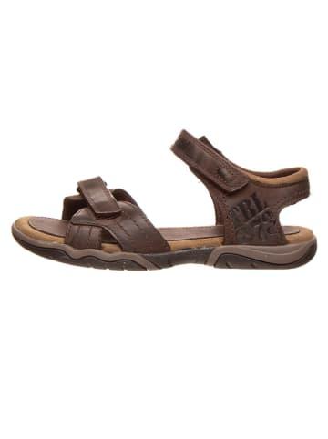 """Timberland Leren sandalen """"Oak Bluffs"""" bruin - wijdte M"""
