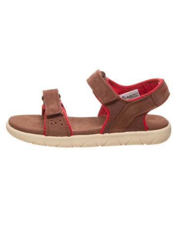 """Timberland Skórzane sandały """"Nubble 2"""" w kolorze brązowo-czerwonym"""