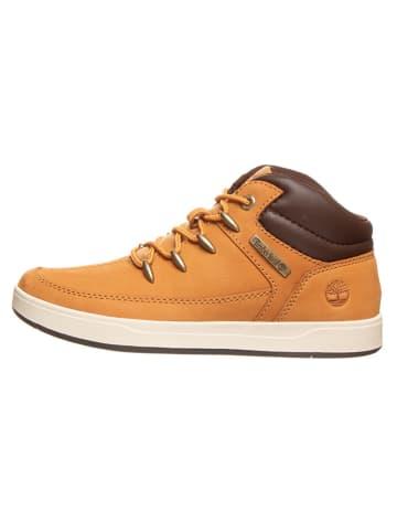 """Timberland Leren sneakers """"Davis Square"""" lichtbruin - wijdte M"""