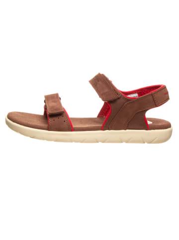 """Timberland Leren sandalen """"Nubble"""" lichtbruin - wijdte M"""