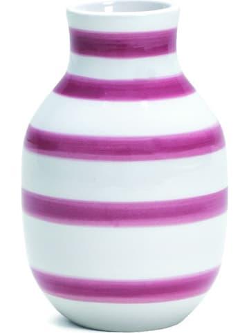 "Kähler Vase ""Omaggio"" in Weiß/ Lila - (H)12,5 cm"