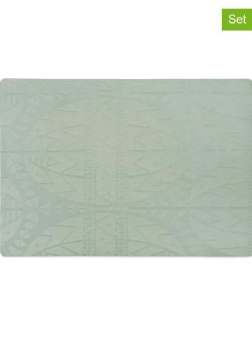 Juna 2-delige set: placemats groen  - (L)43 x (B)30 cm