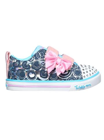 """Skechers Sneakers """"Sparkle Lit - Lil Heartsland"""" blauw"""