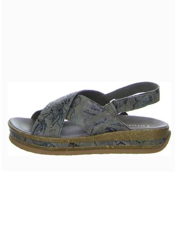 """Think! Skórzane sandały """"Zega"""" w kolorze szarym"""