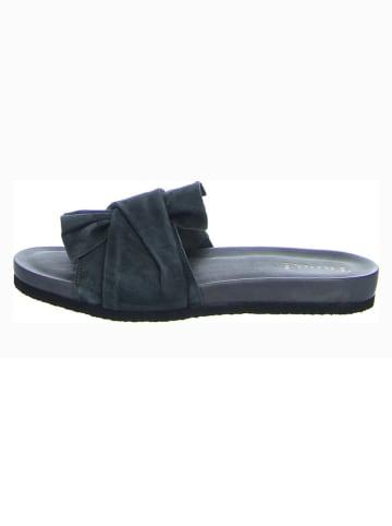 "Think! Leren slippers ""Shik"" antraciet"