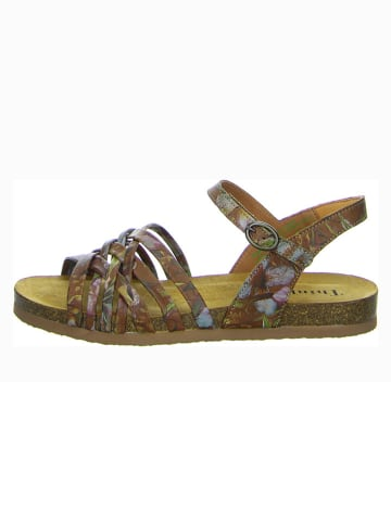 """Think! Leren sandalen """"Shik"""" lichtbruin/meerkleurig"""