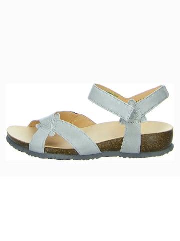 """Think! Skórzane sandały """"Julia"""" w kolorze jasnoszarym"""