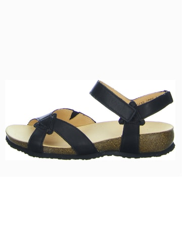 "Think! Leren sandalen ""Julia"" zwart"