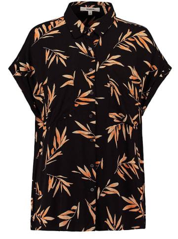 Garcia Koszulka w kolorze czarno-brzoskwiniowym