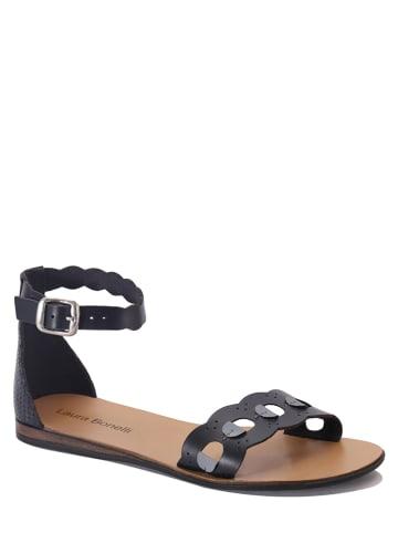 """Laura Bonelli Leren sandalen """"Danila"""" zwart"""