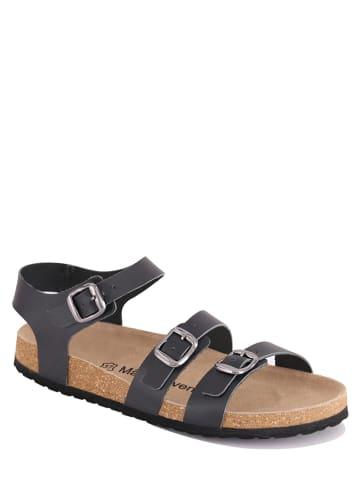 """Mas Provencal Leren sandalen """"Leandra"""" zwart"""