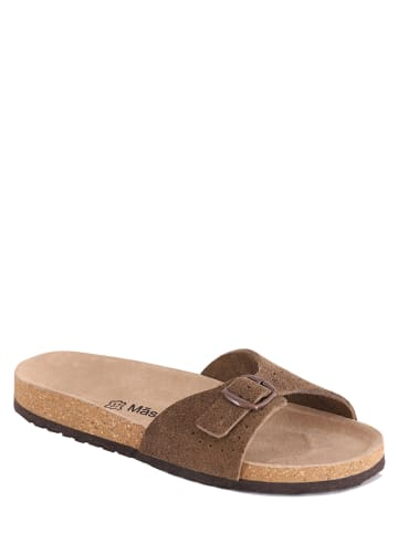 "Mas Provencal Leren slippers ""Feliciana"" beige"