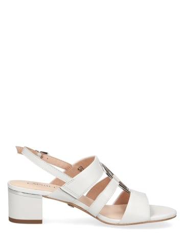"""Caprice Skórzane sandały """"Carla"""" w kolorze białym"""