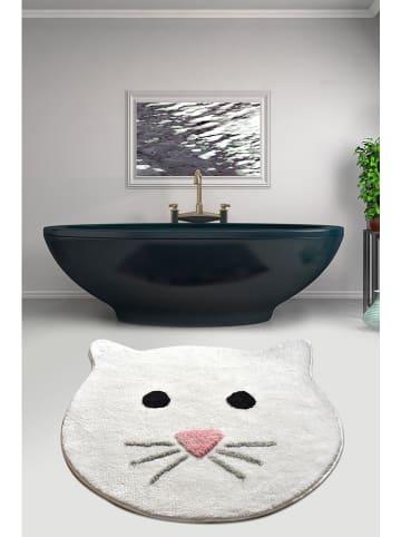 """Elizabed Dywanik łazienkowy """"Cat"""" w kolorze białym"""