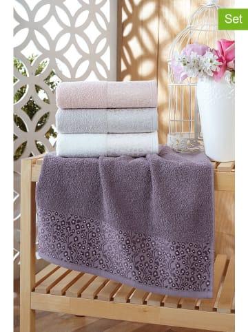 """Elizabed 4-delige set: handdoeken """"Daisy"""" meerkleurig"""