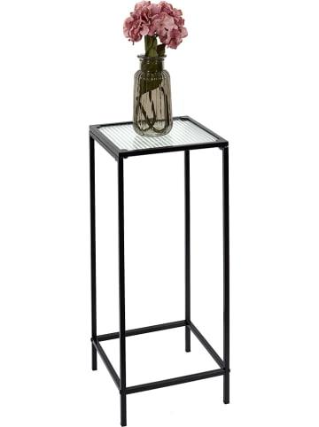 Rétro Chic Beistelltisch in Schwarz - (B)30 x (H)70 x (T)30 cm