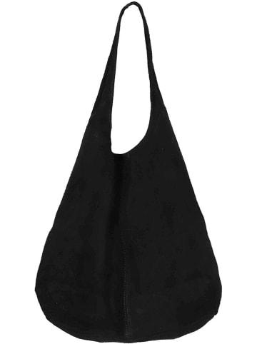 """Zwillingsherz Skórzany shopper bag """"Lena"""" w kolorze czarnym - 32 x 42,5 x 4 cm"""