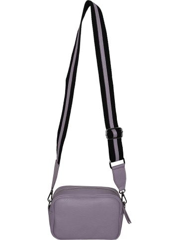 Zwillingsherz Skórzana torebka w kolorze fioletowym - 20 x 13 x 7 cm