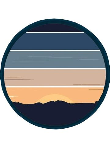 "Really Nice Things Dienblad ""Sunset"" donkerblauw/oranje - Ø 40 cm"