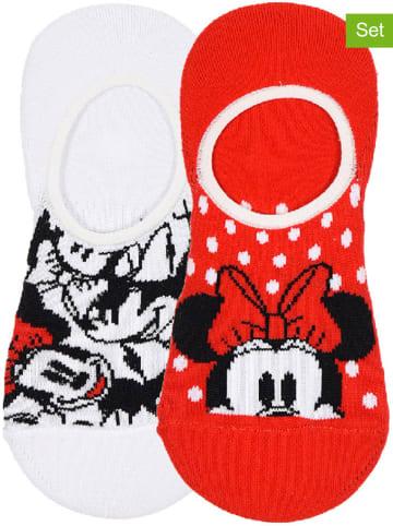 "Disney Minnie Mouse 2-delige set: enkelsokken ""Minnie Mouse"" rood/wit"
