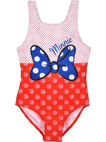 """Disney Minnie Mouse Strój kąpielowy """"Minnie Mouse"""" w kolorze czerwono-jasnoróżowym"""