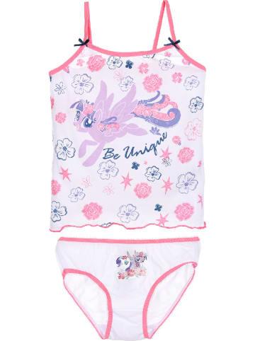 """My Little Pony 2tlg. Set: Unterhemd und Slip """"My Little Pony"""" in Weiß/ Pink"""