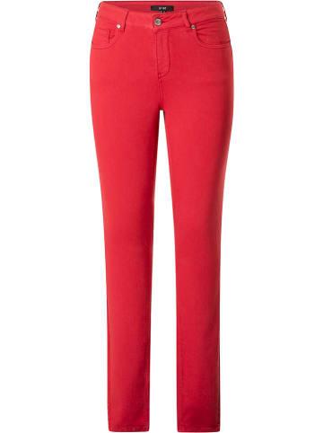 """Yesta Dżinsy """"Mella"""" - Slim fit - w kolorze czerwonym"""