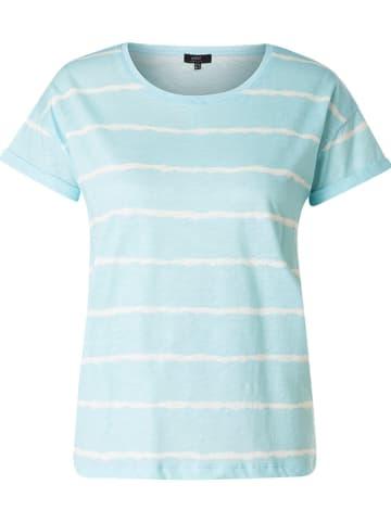 """Yesta Koszulka """"Joanne"""" w kolorze turkusowo-białym"""