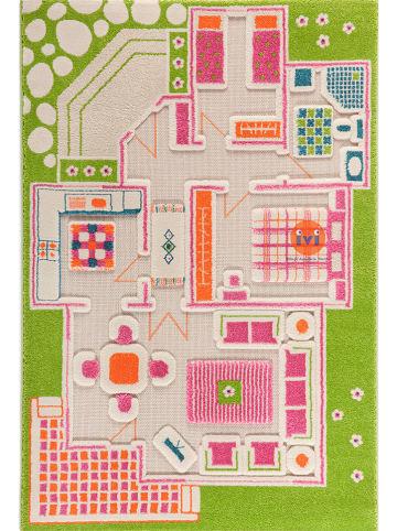 "IVI Carpets Laagpolig tapijt ""3D Play House"" meerkleurig"