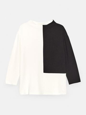 """Someday Bluzka """"Kirtal"""" w kolorze biało-czarnym"""