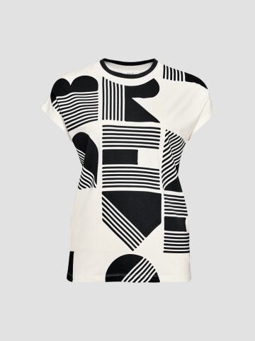"""OPUS Shirt """"Salpha"""" wit/zwart"""