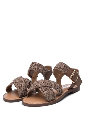 Refresh Sandalen in Taupe