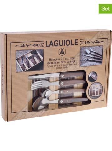 Laguiole 24-delige bestekset naturel