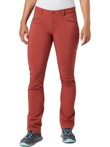 """Columbia Spodnie funkcyjne """"Peak to Point"""" w kolorze czerwonym"""